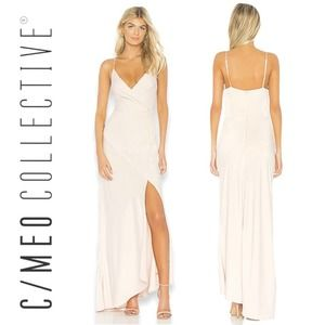NEW C/MEO Collective No Less Maxi Gown Cream Small